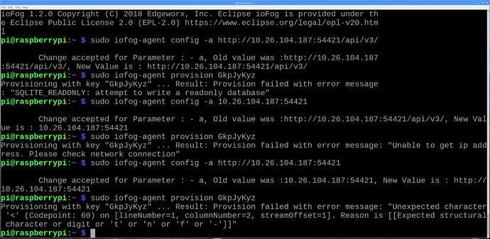 iofog-provisioning-key-error